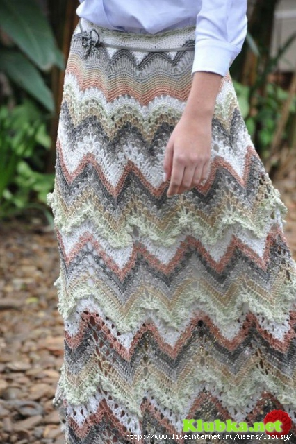 Zig zag crochet skirt free pattern