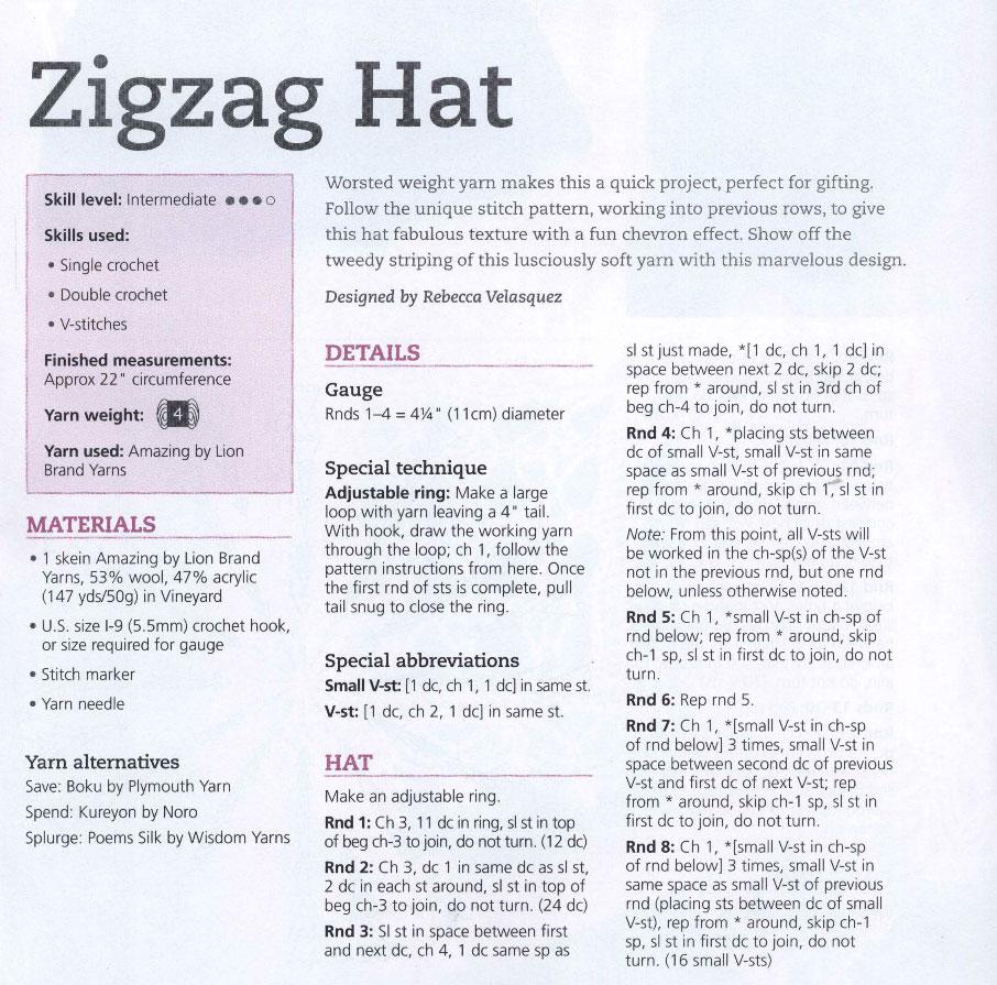Free Crochet Zig Zag Hat Pattern : Zig Zag Crochet Hat Pattern ? Crochet Kingdom