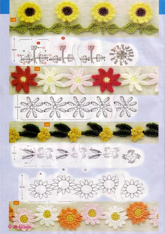 crochet flower edgings