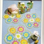 Colorful flowers doily pattern to crochet