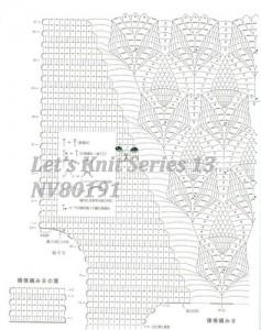1 crochet pineapple motif