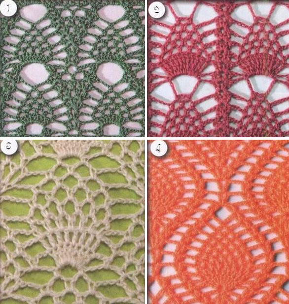 4 Great Pineapple Crochet Stitches ⋆ Crochet Kingdom