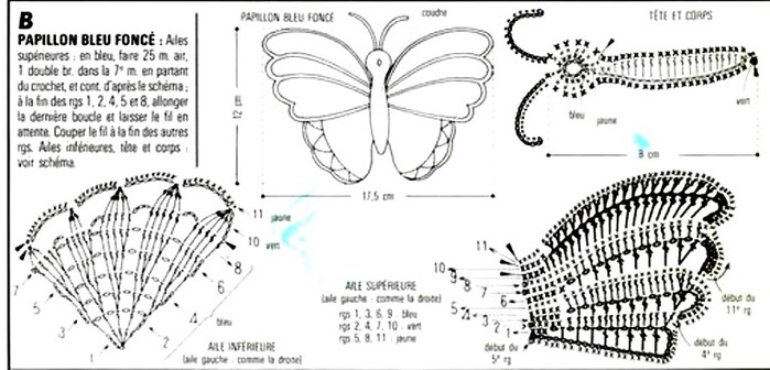 5 crochet butterflies  u22c6 crochet kingdom