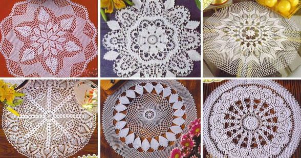 6 Beautiful Round Lace Doily Patterns ⋆ Crochet Kingdom