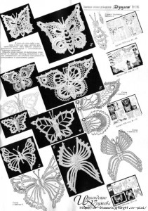 A collection of crochet  patterns Irish lace butterflies