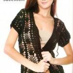 Black jacket with short sleeves Crochet Pattern