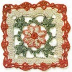 Delicate Crochet Square with Flower Motif