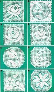 Flower Motif Crochet Napkin Pattern