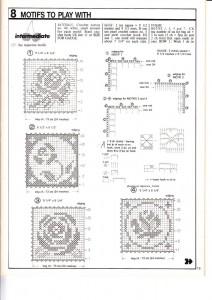 Flower Motif Crochet Napkin Pattern1