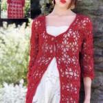 Long Red Crochet Vest/Cardigan Pattern