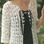 Silk Cotton Three Quarter Sleeve Cardi Pattern