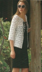 Silk Cotton Three Quarter Sleeve Cardi Pattern