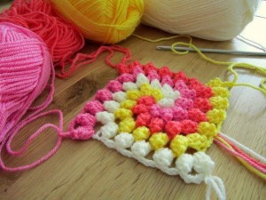 Spiral Bobble Crochet Stitch Tutorial 19