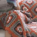 Springtime Popcorn Stitch Crochet Blanket