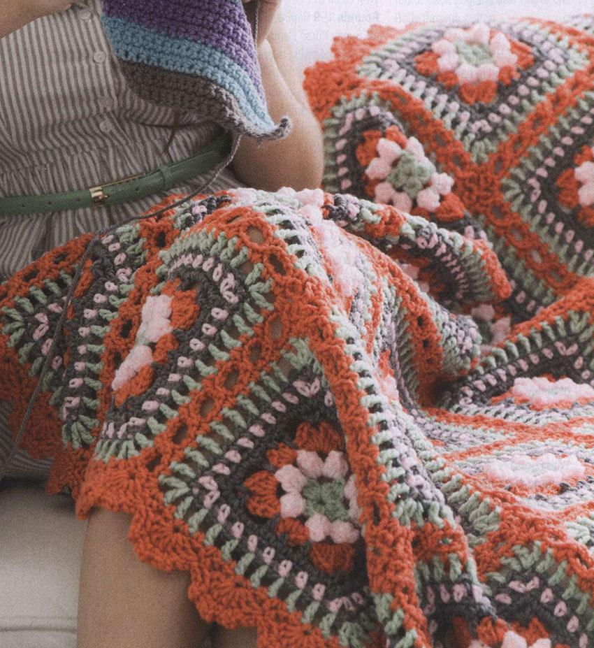 Springtime Popcorn Stitch Crochet Blanket ⋆ Crochet Kingdom
