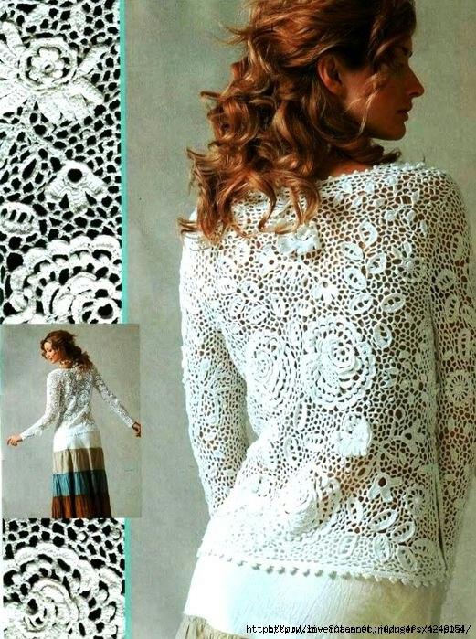 92c21a8fd The Art of Lace Crochet Sweater ⋆ Crochet Kingdom
