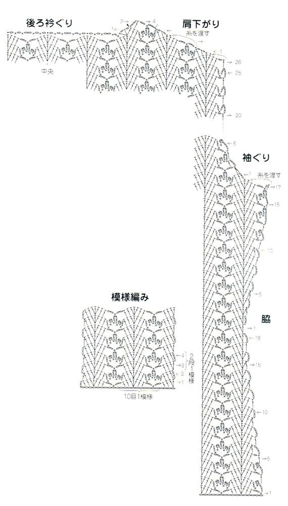 Black eyelet cardigan crochet pattern diagram 1 crochet kingdom black eyelet cardigan crochet pattern diagram 1 ccuart Image collections