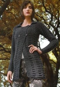 black textured crochet cardigan pattern