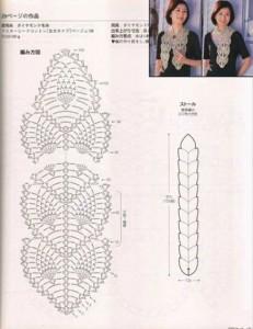 creating pineapple crochet stitch scarf