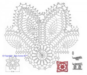 crochet pineapple motif kdj