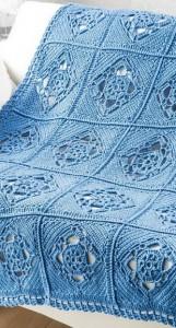 crochet squar emotif bedding blacnket