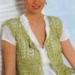 Rose Crochet Granny Vest