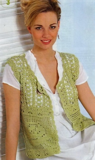 Free Crochet Granny Square Vest Patterns : Rose Crochet Granny Vest ? Crochet Kingdom