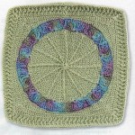 Waterlily Crochet Washcloth