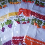 Unique Tablecloth and Napkin Crochet Patterns with Fruit and Vegetable Motifs