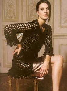 delicate crochet cardigan long