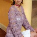 Free Lace Flower Square Cardigan Crochet Pattern