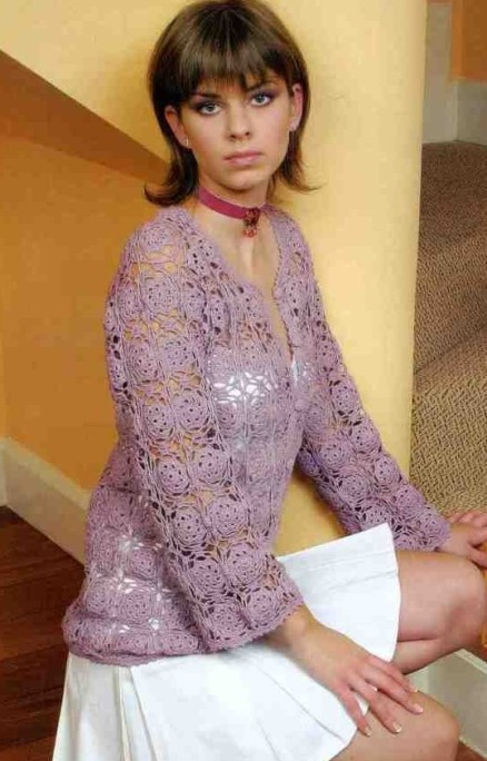Free Lace Flower Square Cardigan Crochet Pattern Crochet Kingdom