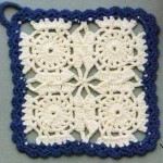Four Circles in a Crochet Square