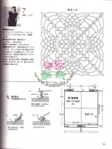 free diagrams for crochet pineapple stitches2