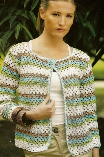 Granny Stitch Crochet Cardigan Pattern ⋆ Crochet Kingdom