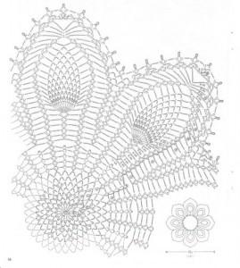 pineapple crochet idea doily 1