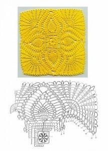 pineapple crochet square