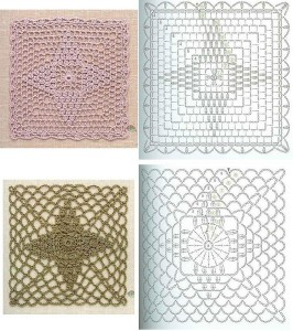 pineapple crochet square patterns