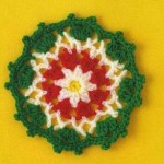 Tri Colored Crochet Square Motif
