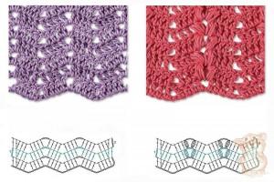 zig zag herrinbone crochet stitch 1