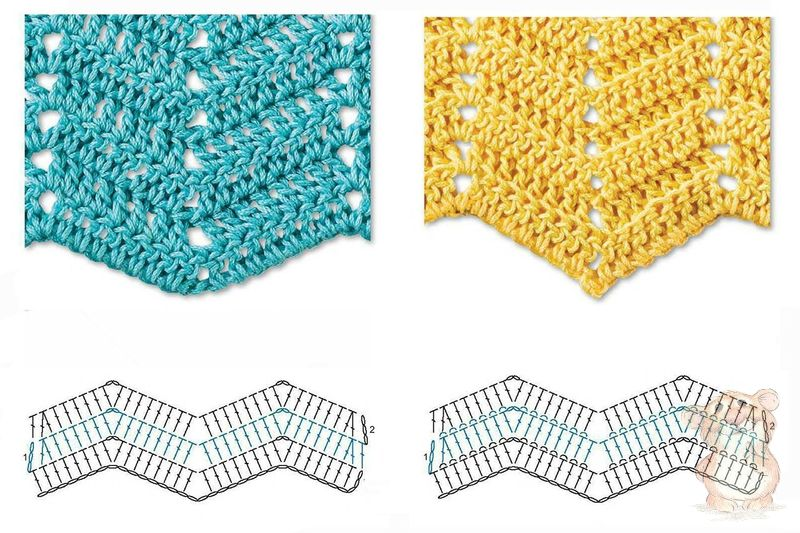 ... Herringbone, Zig Zag Crochet Stitches for Free ? Crochet Kingdom