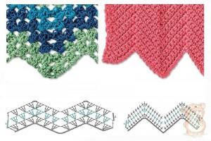 zig zag herrinbone crochet stitch