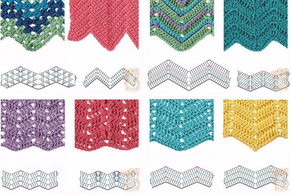 Best 8 Herringbone Zig Zag Crochet Stitches For Free Crochet Kingdom