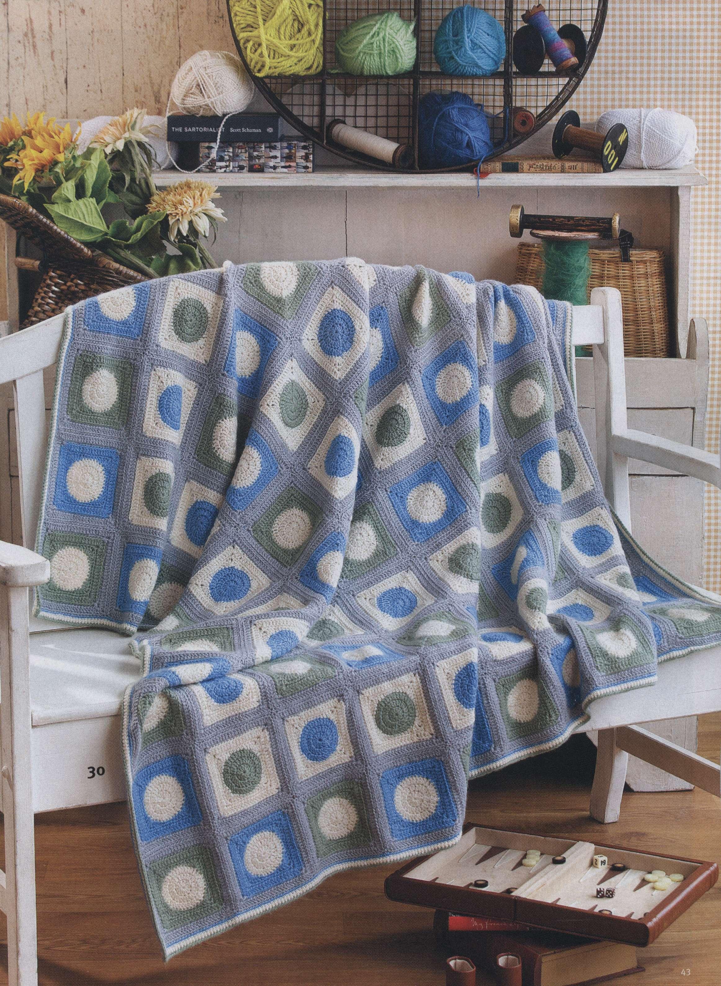 Mandala Crochet Pattern Blanket