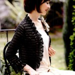 Black Lace Crochet Bolero Pattern