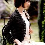 Black Lace Crochet Bolero Pattern