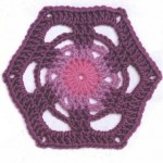 Hexagonal with Circle in the Middle Crochet Motif Pattern