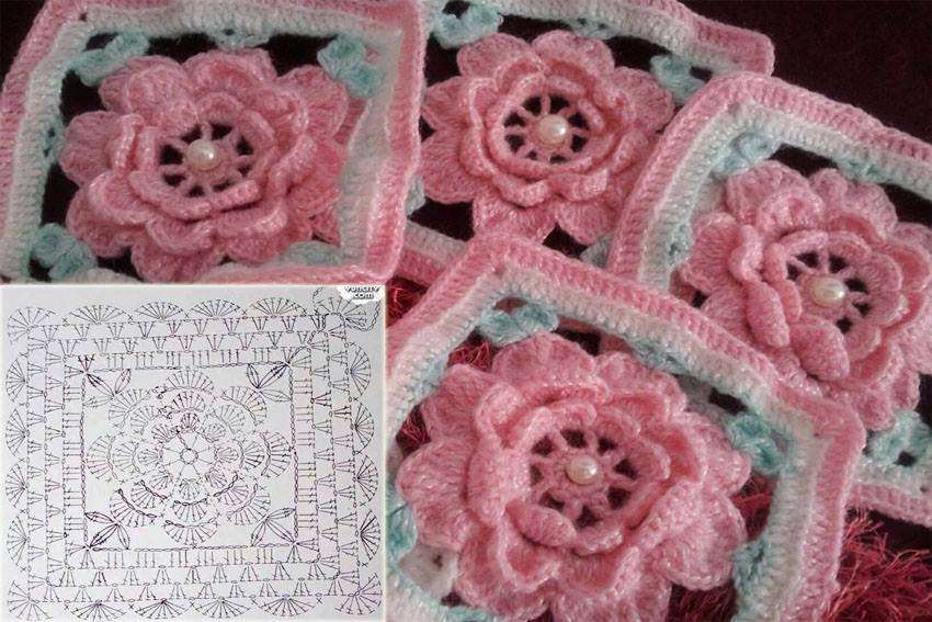 Flower Square Crochet ‹� Crochet Kingdom