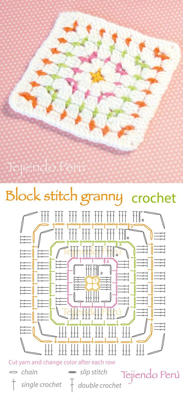 Block    Stitch Granny Crochet Square     Crochet Kingdom