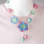 Blooms and Beads Crochet Necklace Pattern